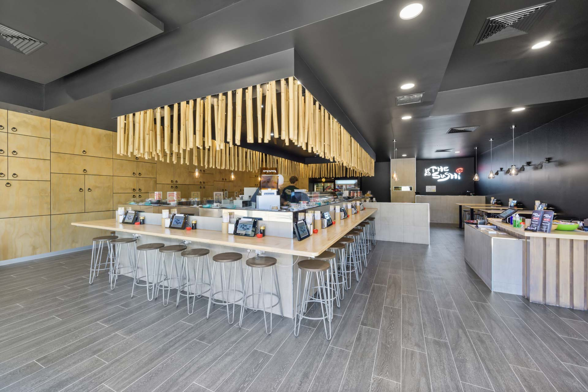 space planning was utilised for this cafe fitout design