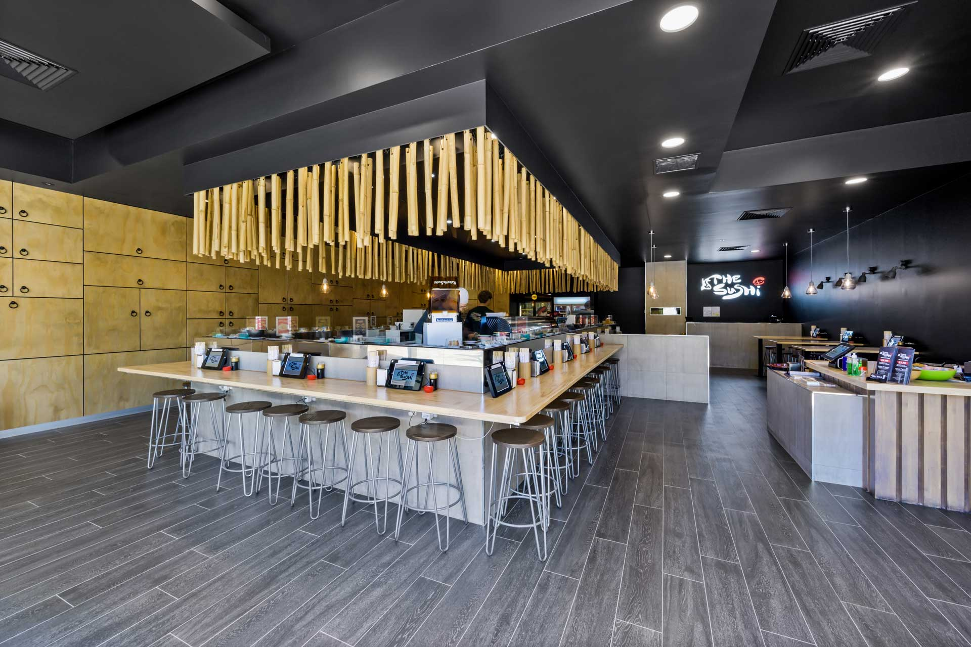 Sushi Train Cafe Fitout in Perth