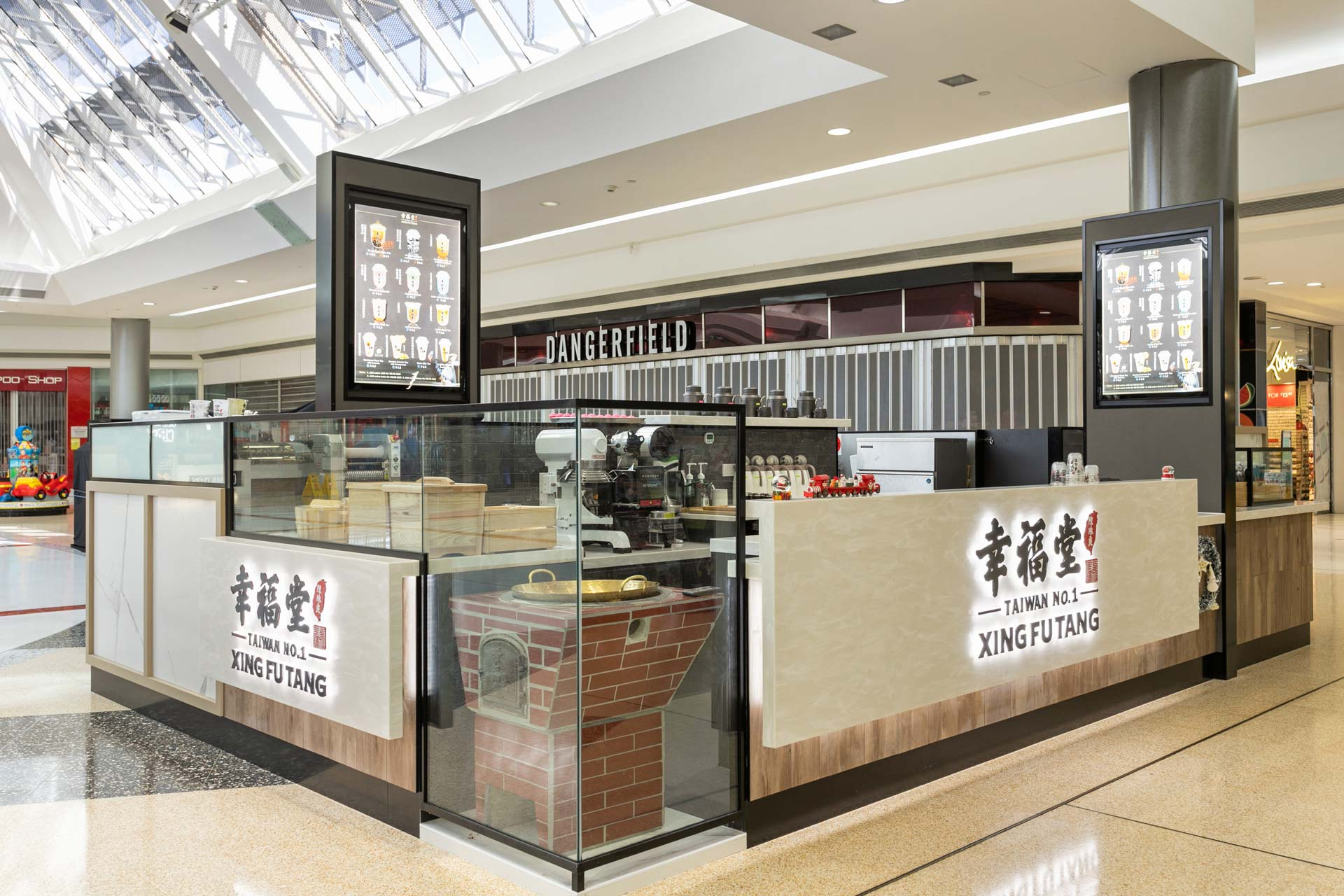 Fitout design of a takeaway shop in a shopping centre