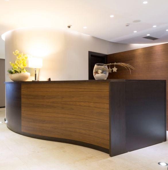 custom-made reception desk