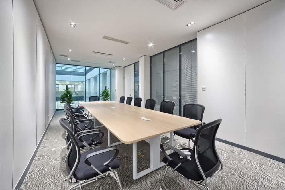 meeting room in a new office