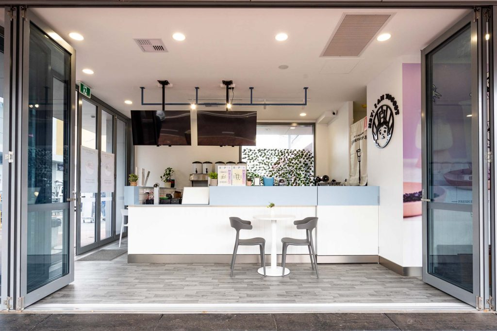 Welcoming open plan café