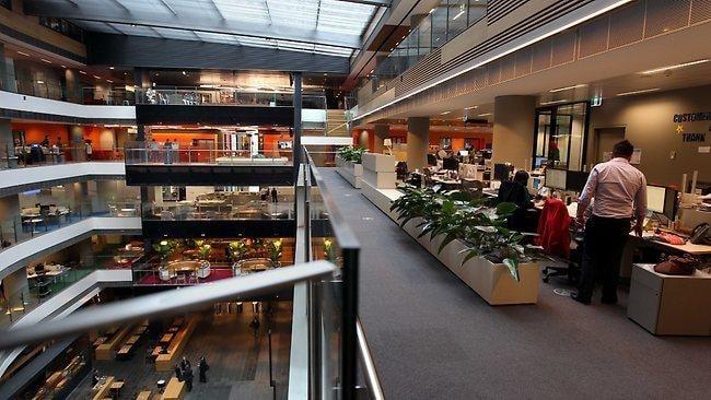 Multi-level open plan office